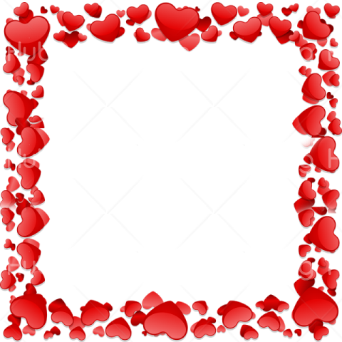 heart molduras rosa png Transparent Background Image for Free