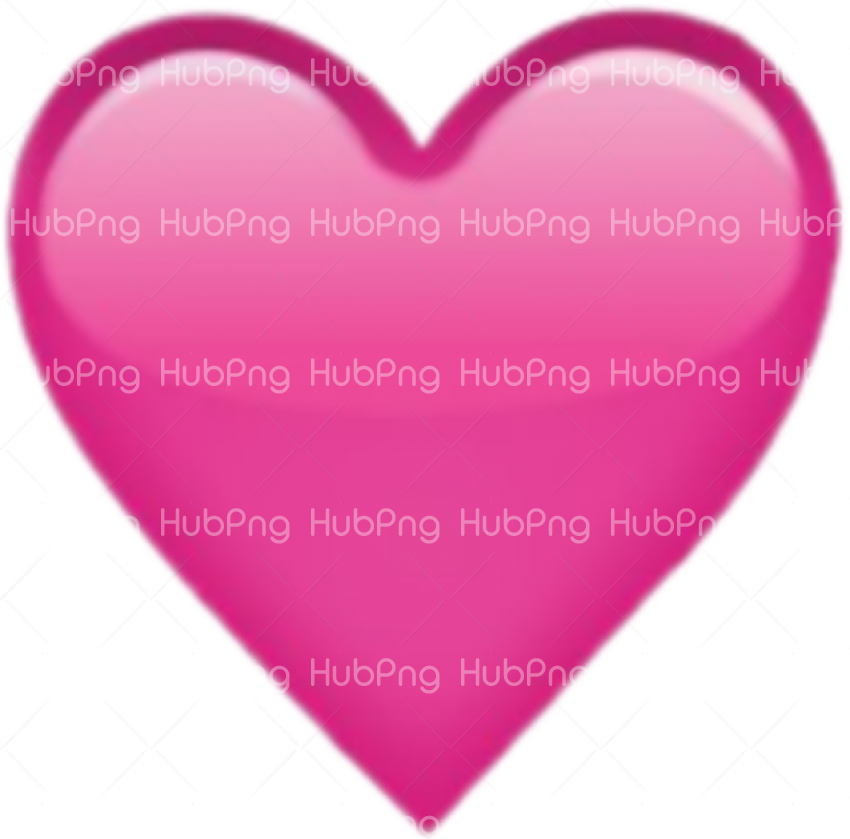 heart pink emoji png Transparent Background Image for Free