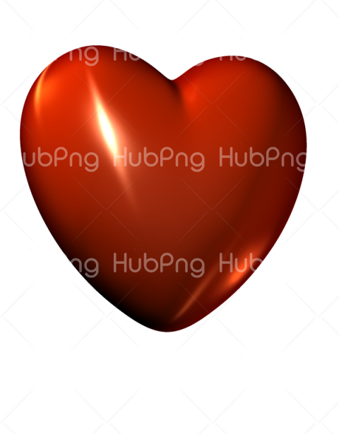 heart png 3d Transparent Background Image for Free