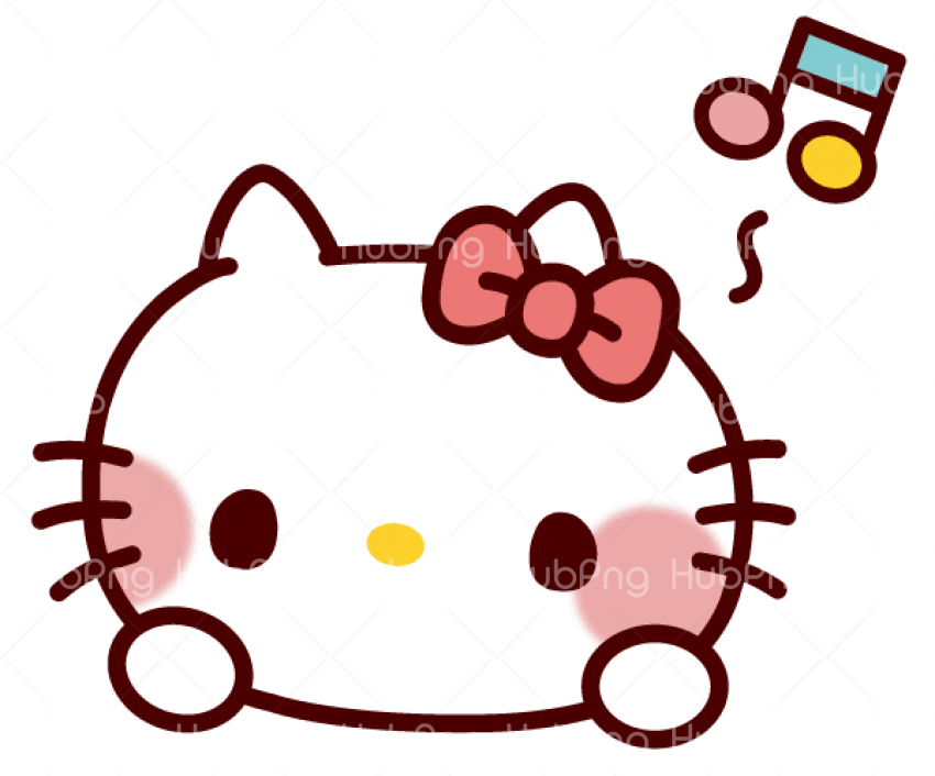 hello kitty face png Transparent Background Image for Free