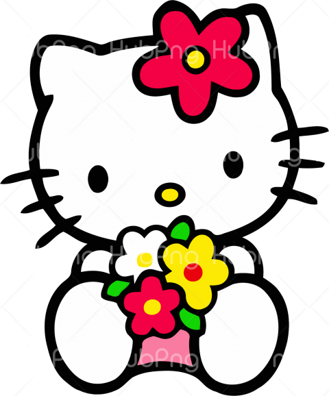 hello kitty png flowers Transparent Background Image for Free