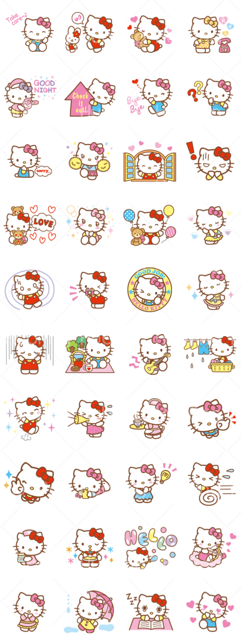 hello kitty vector png Transparent Background Image for Free