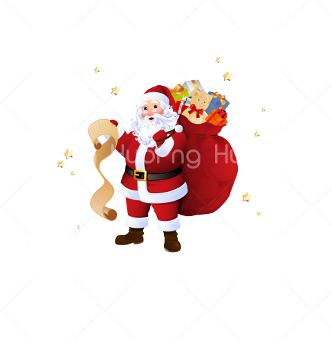 holiday for christmas santa cartoon png Transparent Background Image for Free