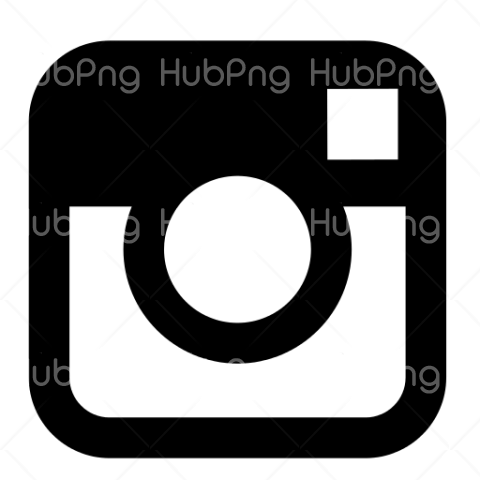 instagram PNG logo black Transparent Background Image for Free