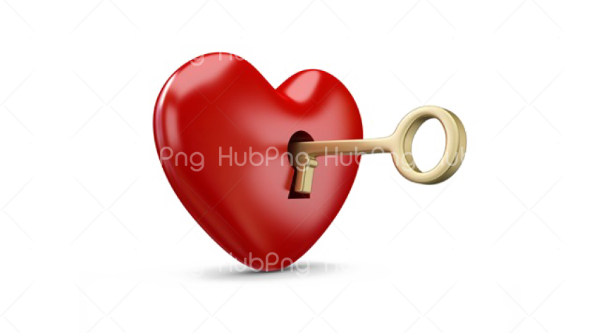 Key heart png Transparent Background Image for Free