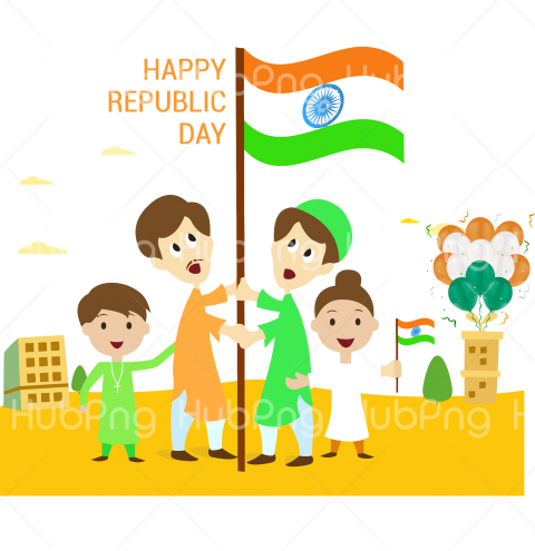 kids happy republic day png india hd Transparent Background Image for Free