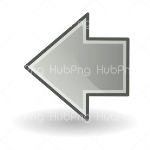 Left Arrow Png Grey color Transparent Background Image for Free