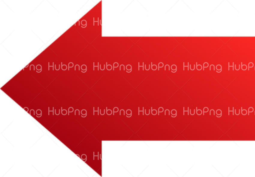 Left Red Arrow PNG Transparent Background Image for Free