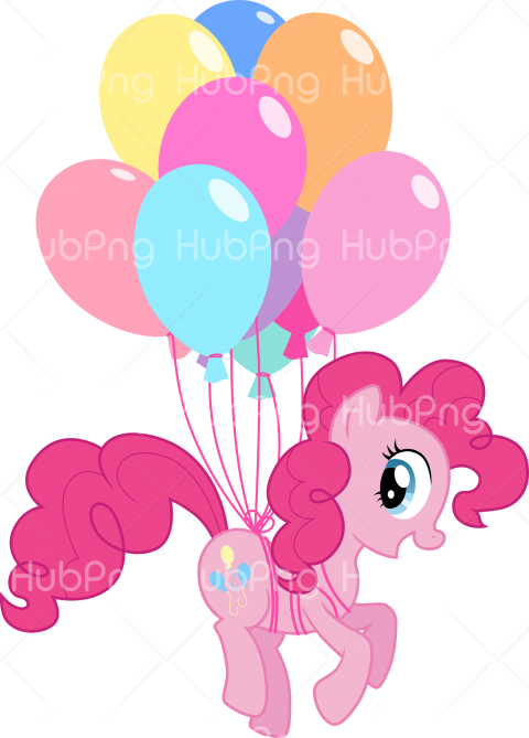 little pony png ballons Transparent Background Image for Free
