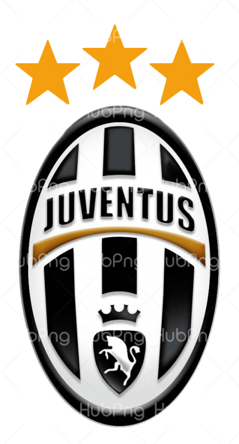 logo juventus png with stars Transparent Background Image for Free