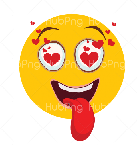 love emoji hd heart Transparent Background Image for Free