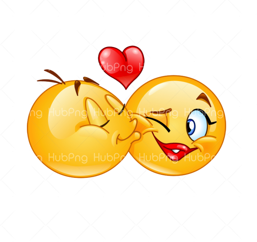 love emoji kiss Transparent Background Image for Free