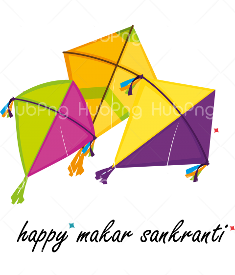 Makar Sankranti png kite Transparent Background Image for Free