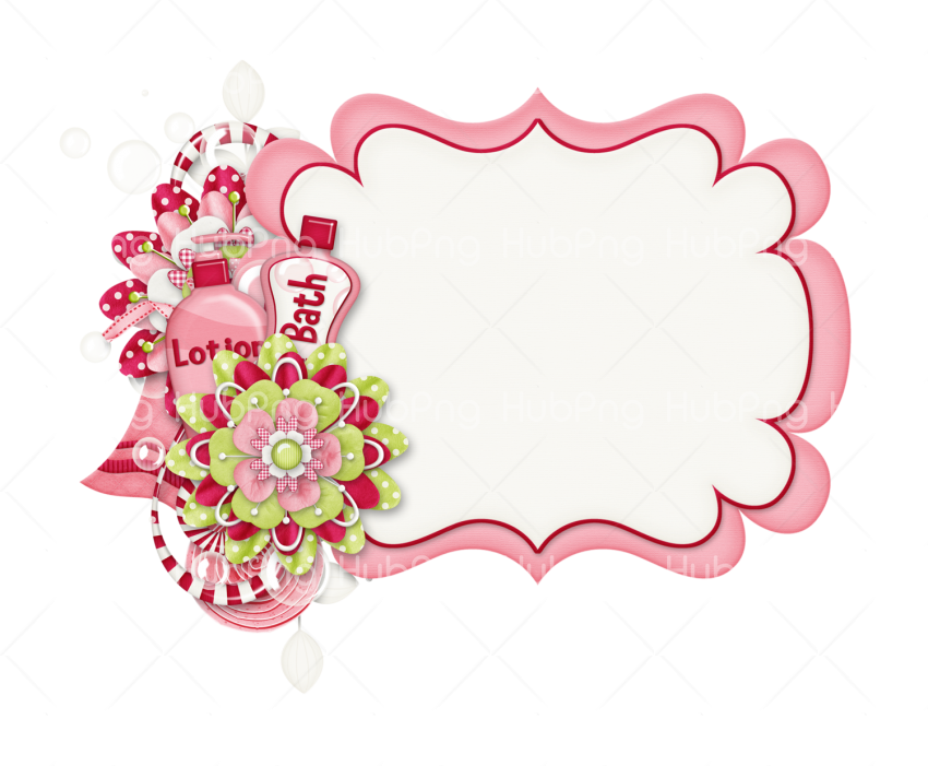 marco png blanco pink Transparent Background Image for Free