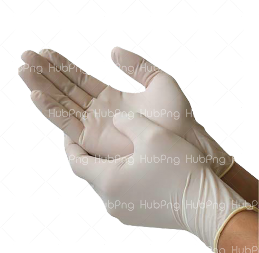 Medical glove Surgery Latex Rubber glove Transparent Background Image for Free