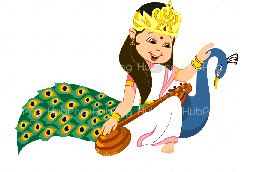 mermaid happy vasant Panchami png Transparent Background Image for Free