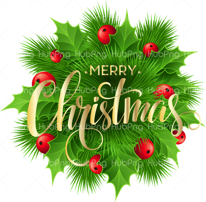 merry chrismas leaf png Transparent Background Image for Free