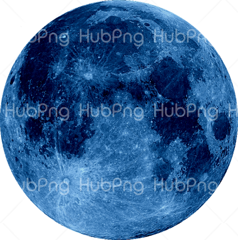 moon png blue hd Transparent Background Image for Free