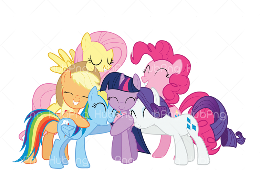 my little pony characters Transparent Background Image for Free