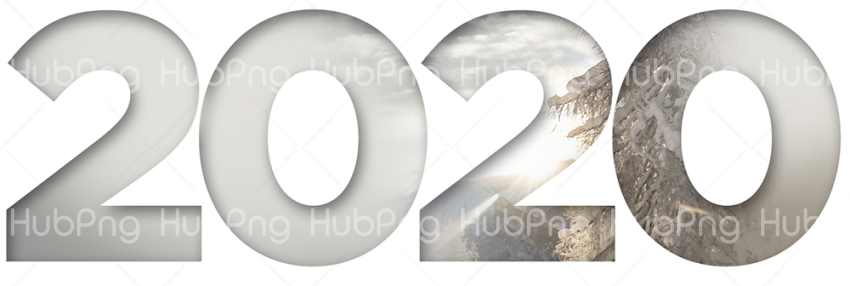 New Year 2020 PNG Pic Transparent Background Image for Free
