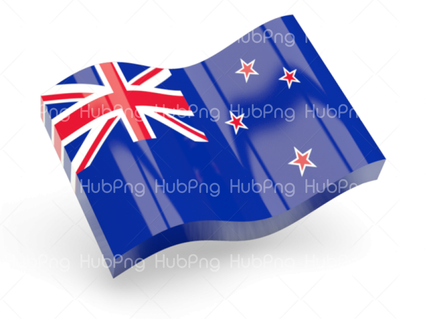 new zealand flag png 3D Transparent Background Image for Free