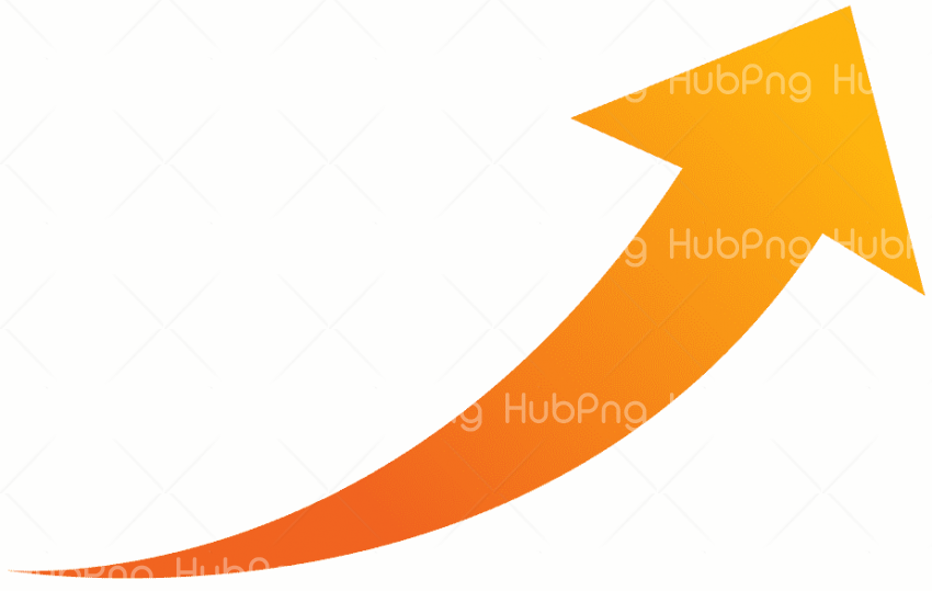 orange arrow png, flechas curvas png Transparent Background Image for Free