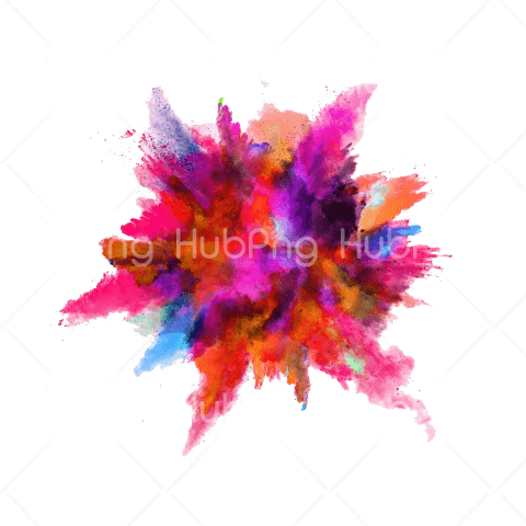 Paint explosion png color Transparent Background Image for Free
