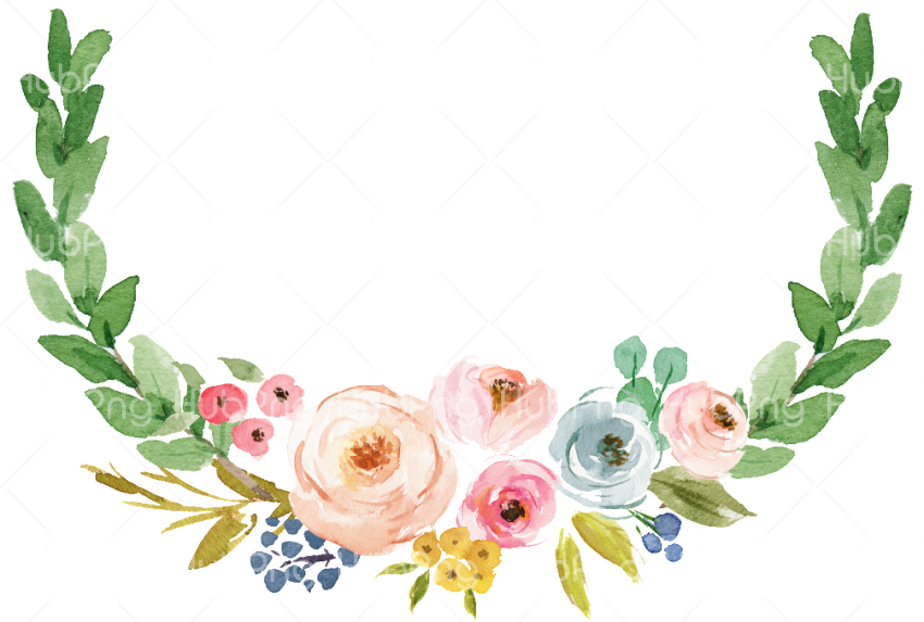 painted flowers png Transparent Background Image for Free