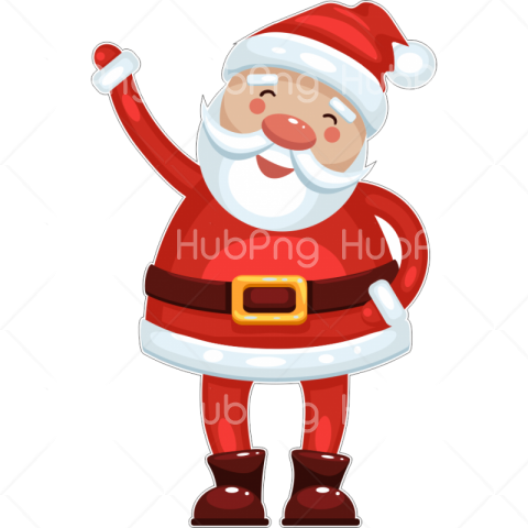 png santa cartoon clipart Transparent Background Image for Free