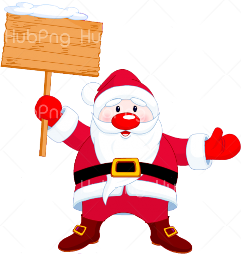 png santa claus cartoon clipart Transparent Background Image for Free