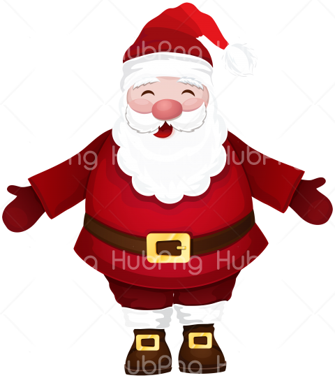 PNG Santa Claus Clipart hd papa hat Transparent Background Image for Free