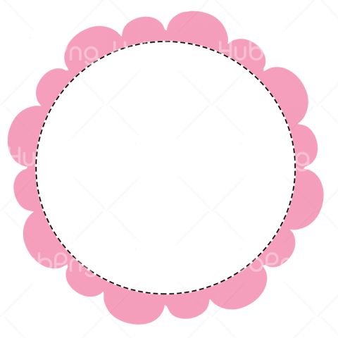 polaroid frame png circle pink Transparent Background Image for Free