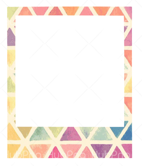 polaroid frame png colores Transparent Background Image for Free