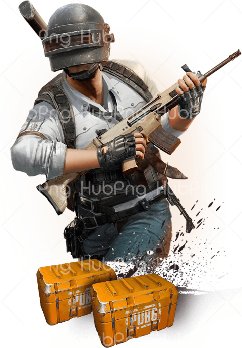 pubg png with gun Transparent Background Image for Free