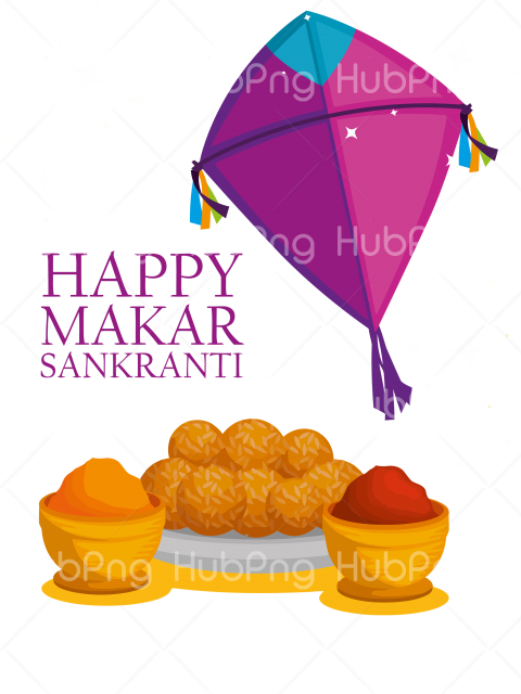 purple happy makar sankranti png Transparent Background Image for Free