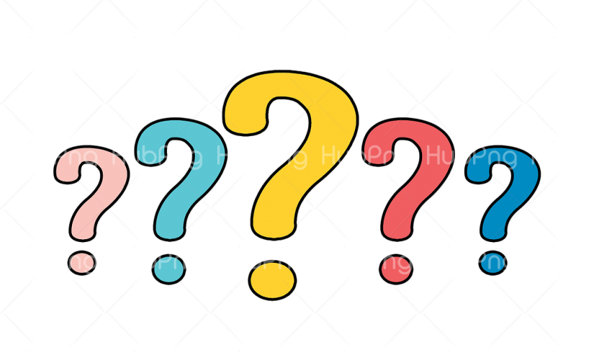 question mark colores Transparent Background Image for Free