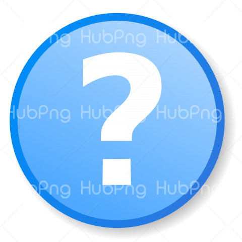 question mark icon blue png Transparent Background Image for Free