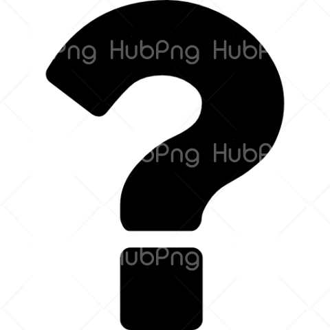 question mark png black color Transparent Background Image for Free