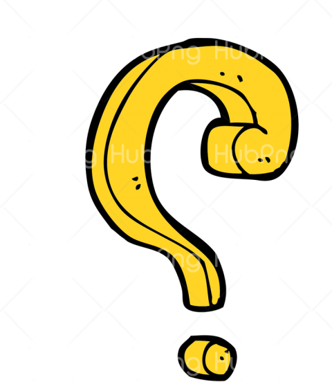 question mark yellow png Transparent Background Image for Free