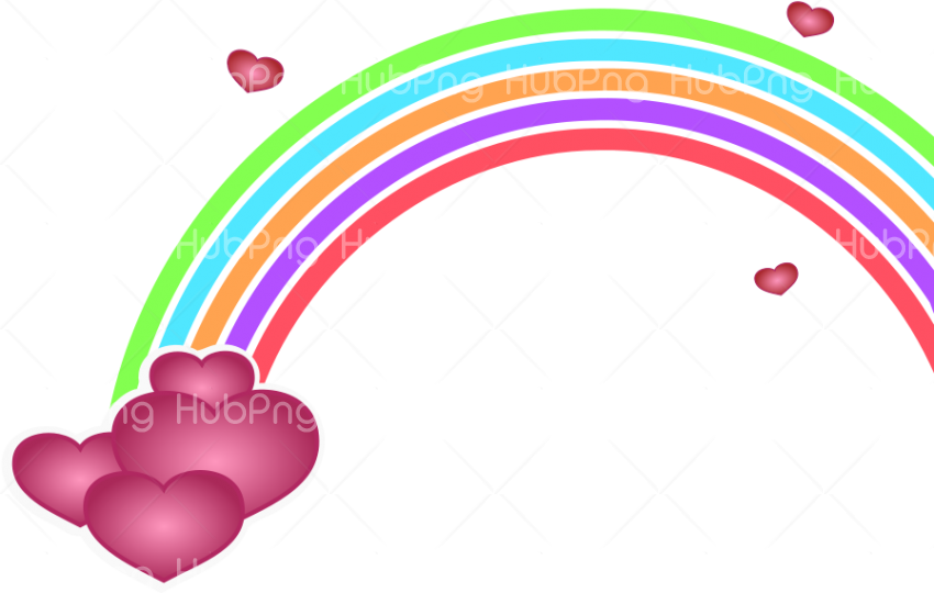 rainbow png cartoon Transparent Background Image for Free