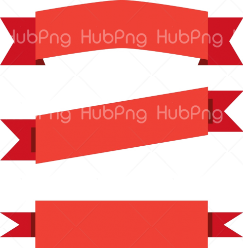 red banner png hd Transparent Background Image for Free