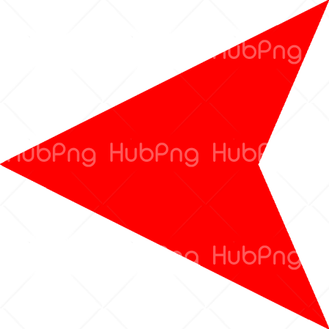 Red Left Arrow PNG Transparent Background Image for Free