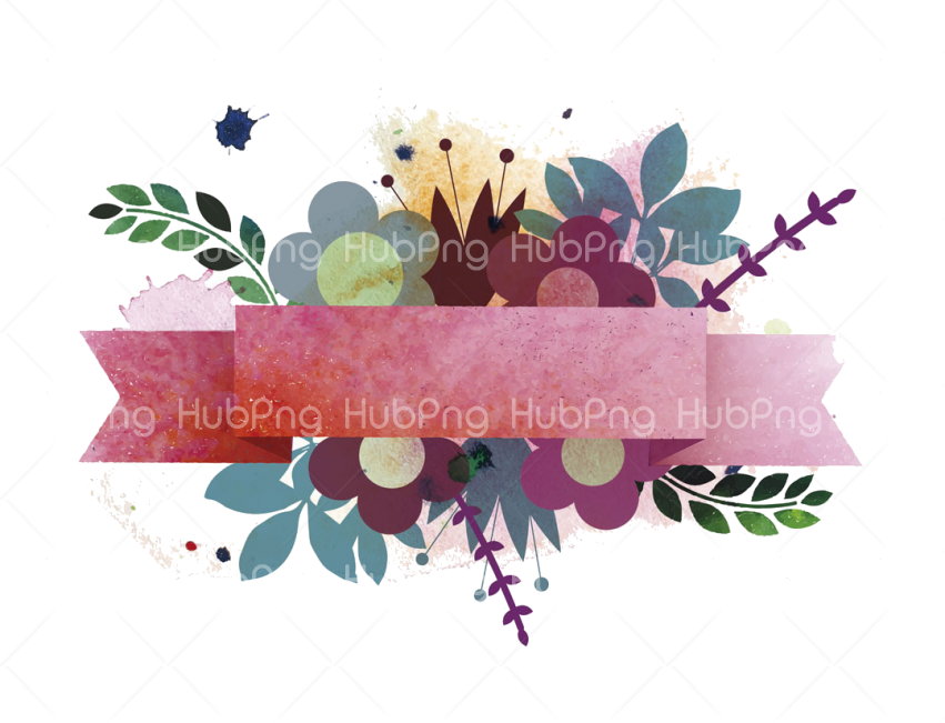 Ribbon Euclidean Flower Painting Png Drawing  Watercolor Transparent Background Image for Free