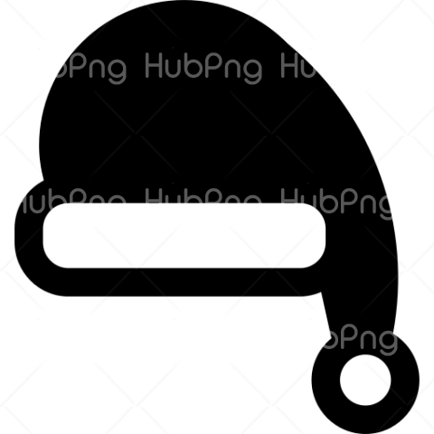 santa hat png icon black and white Transparent Background Image for Free