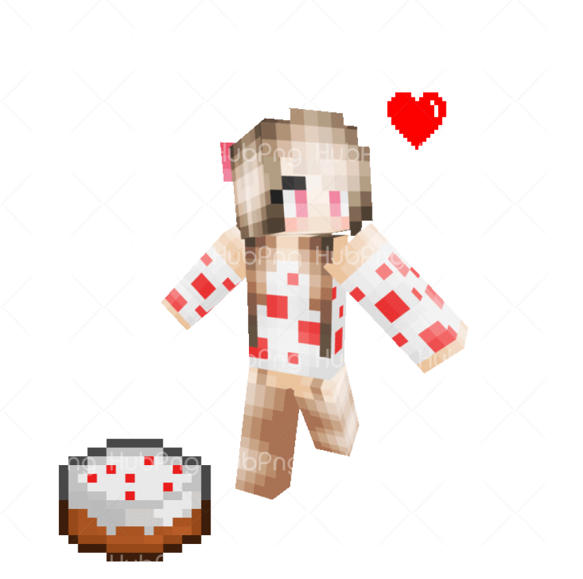 skin minecraft girl png Transparent Background Image for Free