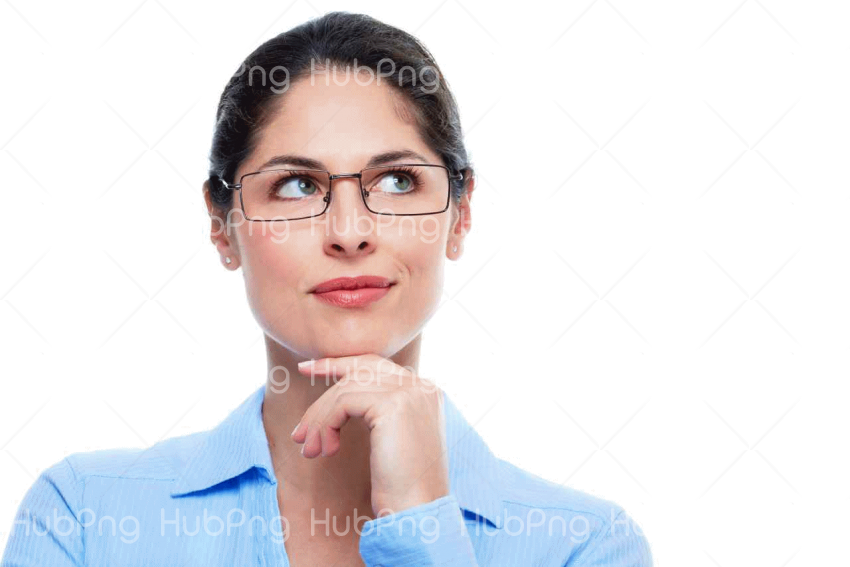 think woman png Transparent Background Image for Free