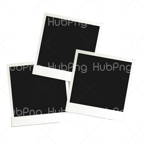 three polaroid frame png Transparent Background Image for Free