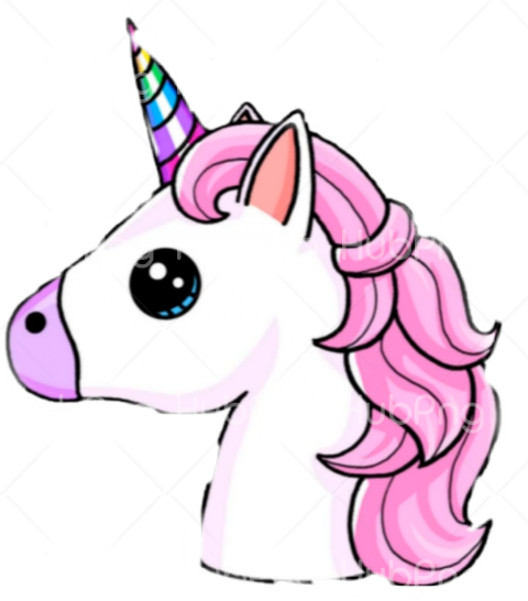 unicorn face png head Transparent Background Image for Free