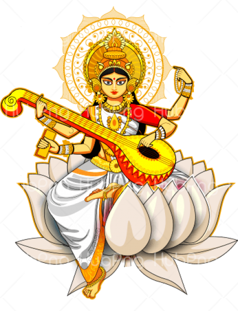 vasant Panchami png cartoon plucked Transparent Background Image for Free