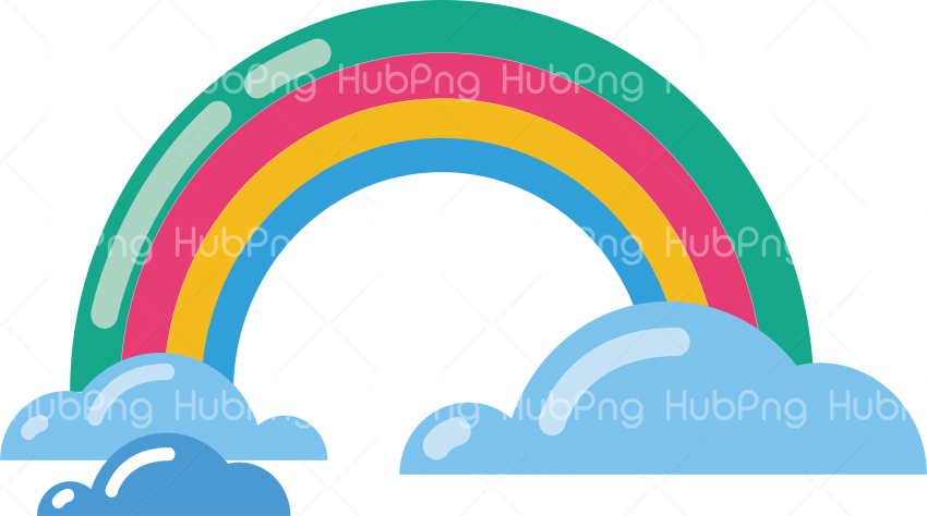 vector rainbow png Transparent Background Image for Free